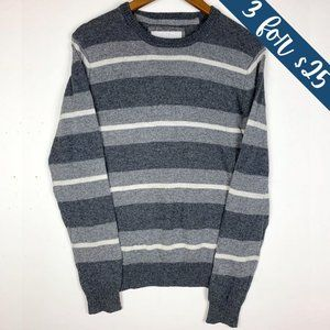 3/$25 Aeropostale Grey Striped Wool Blend Sweater